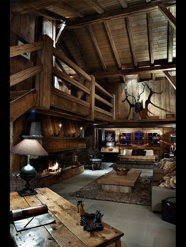 Rustic living room | Dressing the Home | Pinterest