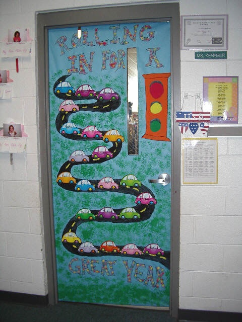Classroom door decorations testing for Art classroom decoration ideas