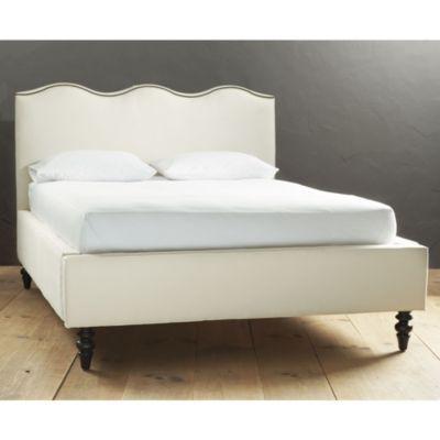 Lehigh Upholstered Bed with Antique Brass Nailheads | Ballard Designs