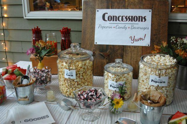 Backyard Movie Night Birthday Party Ideas : Outdoor Movie Night  Juicy Bits Blog  Cool Ideas  Pinterest