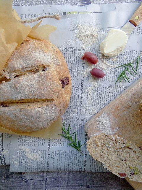 rosemary olive peasant bread | Breads | Pinterest