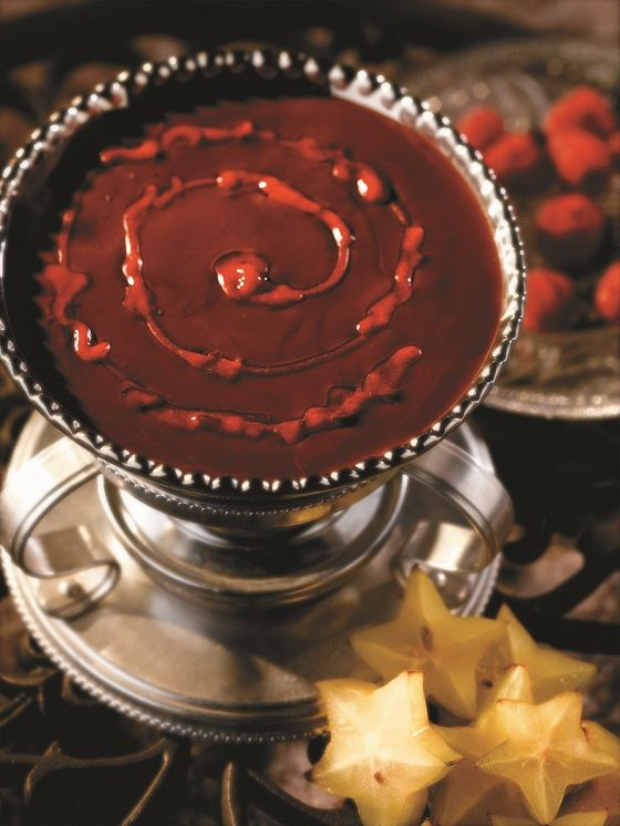 Dark Chocolate Raspberry Fondue | Recipe