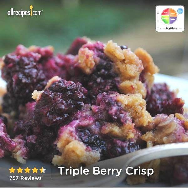 Triple Berry Crisp.....http://allrecipes.com/recipe/triple-berry-crisp ...