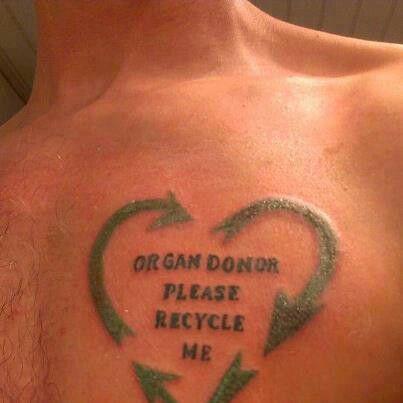 organ donation tattoos car interior design. Black Bedroom Furniture Sets. Home Design Ideas