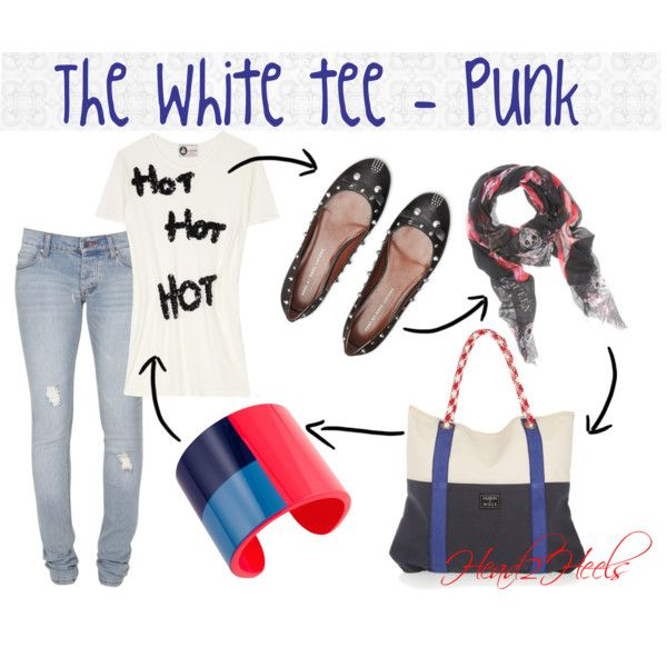 """The White tee - Punk"" by head2heels on Polyvore"