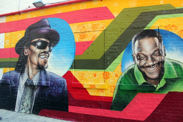 Pin by arts observer on murals and street art pinterest for Chuck brown mural