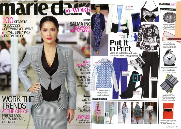 Our Mod Colorblock Jacket in Marie Claire's May issue