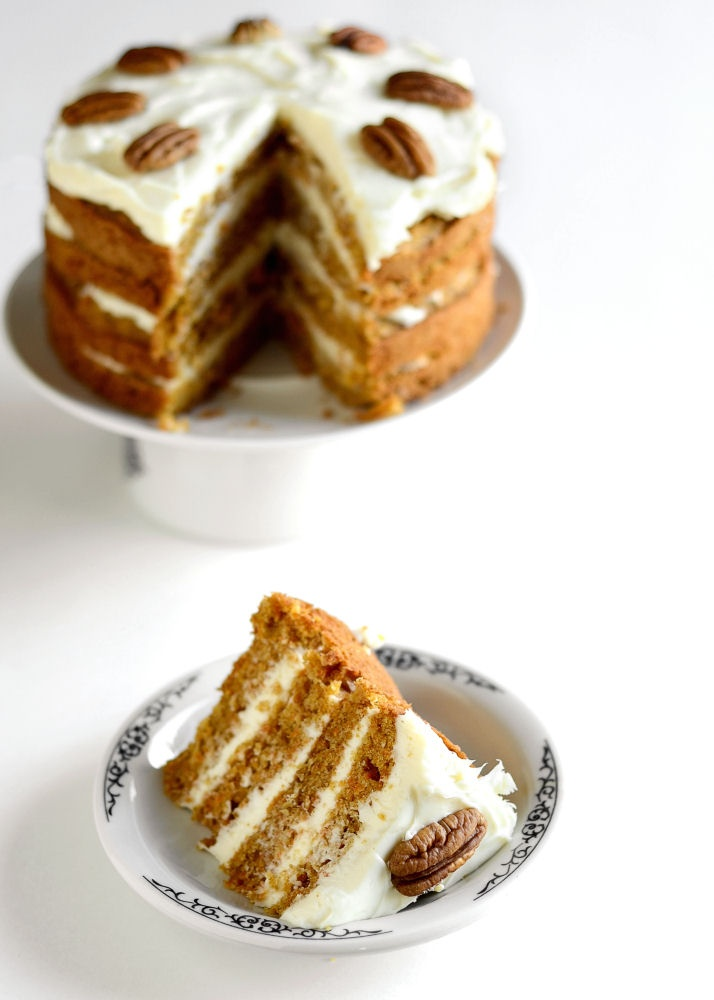 ... from yesterday's post: carrot cake with maple cream cheese frosting