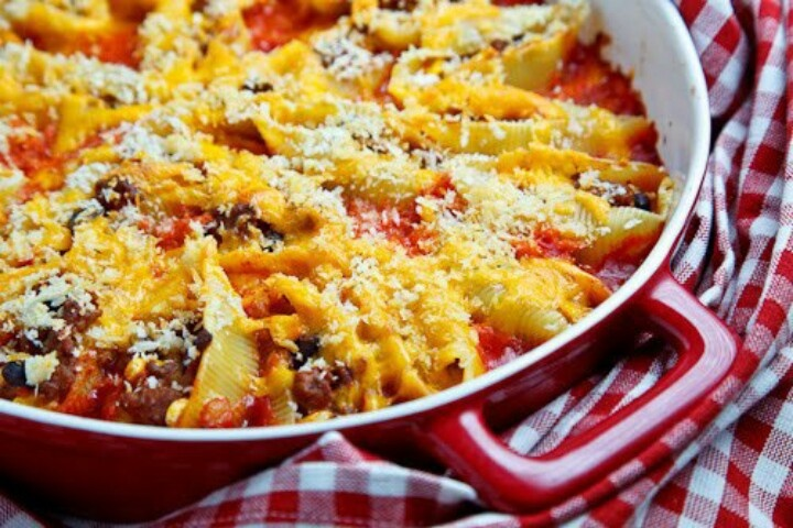 Taco stuffed shells | Yummy Recipes | Pinterest