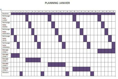 Mon planning et fiches pour le m nage organise - Organisation menage planning ...