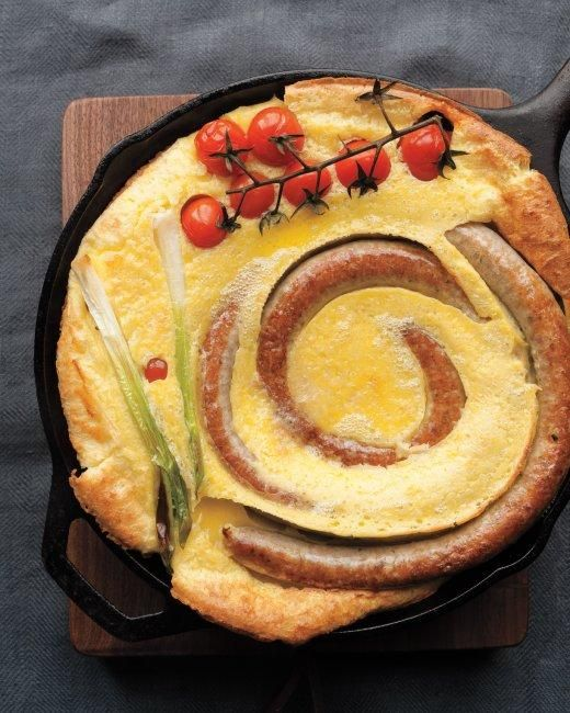 Savory Pudding with Sausage and Tomatoes Recipe