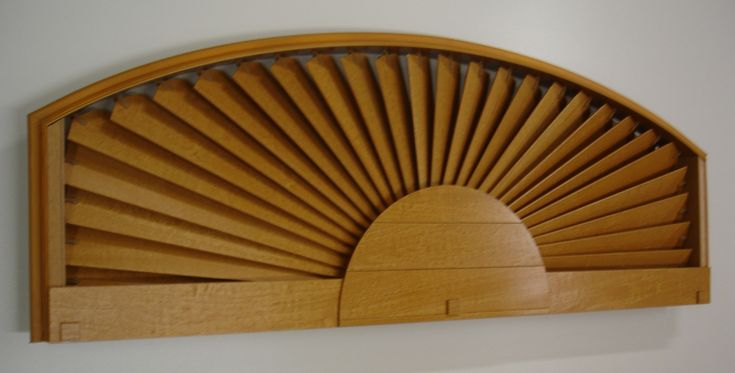Arched window treatment products eyebrow arch in basswood golden