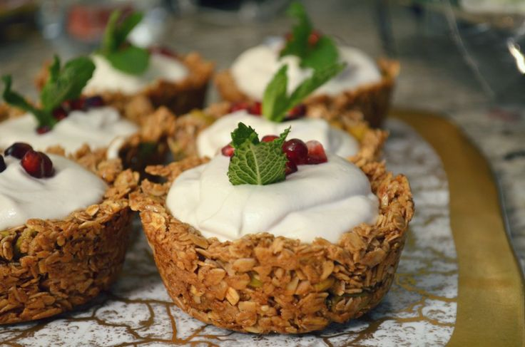 "Granola cups with cashew ""yogurt""-- YUM! 