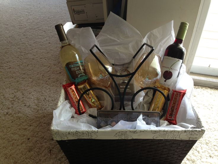 Wine Bottle Basket Wedding Gift : Wine Gift Basket for wedding Wine glasses, wine, bottle stopper, drink ...