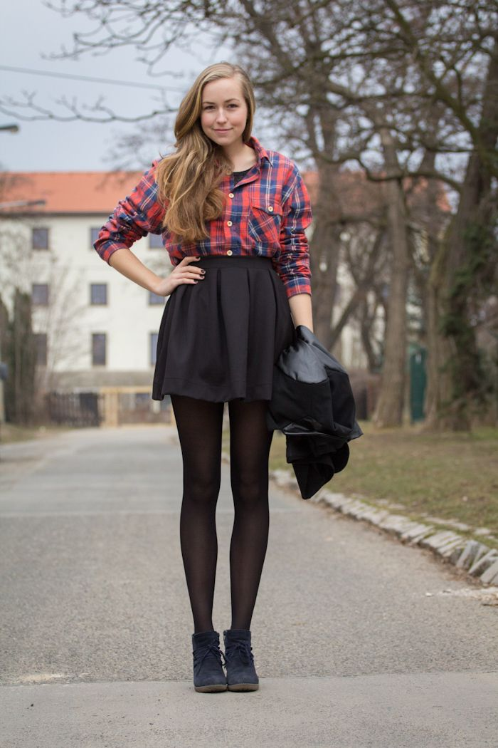 Pleated skirt pantyhose your inocent
