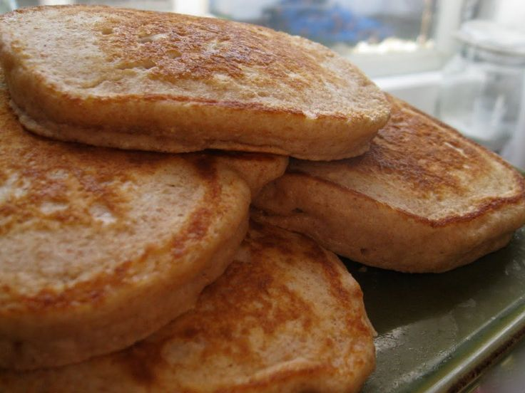 Whole Wheat Buttermilk Pancakes--maybe add blueberries?