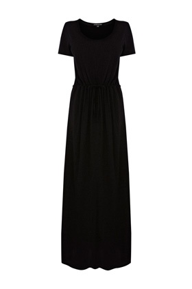 Shirt Maxi Dress on This Maxi Dress Features Square Cropped T Shirt Sleeves And A Rounded