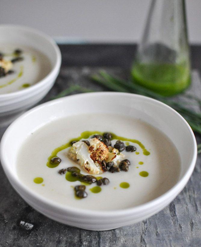 Creamy Cauliflower Soup I howsweeteats.com