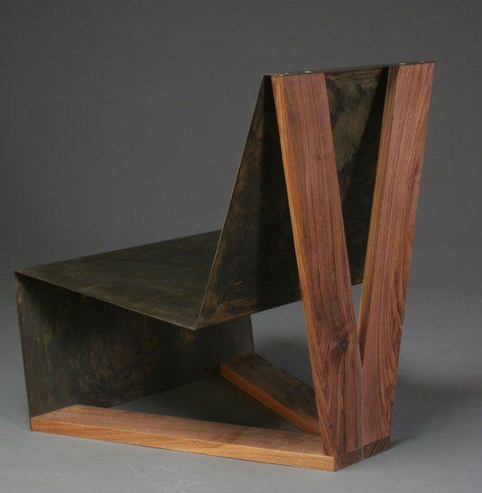 Custom Made Sheet Metal Lounge Chairs Set Design Pinterest