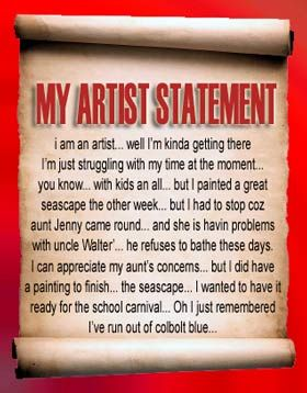 writing an artist statement tips