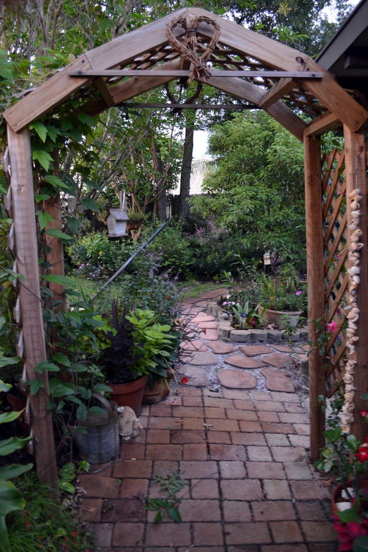 Homemade Garden Arch Future House Pinterest