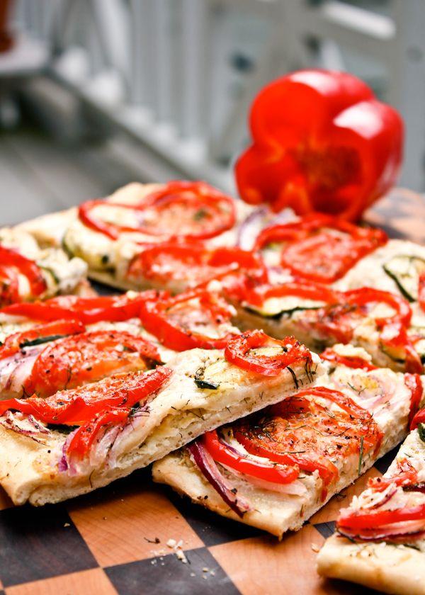 Roasted Veggie Flat Bread | Recipe