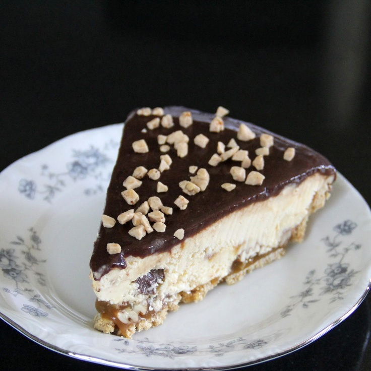 ... ice cream pie with caramel, pecans, and old fashioned hot fudge sauce