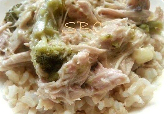 Creamy Crock Pot Chicken and Broccoli Over Rice