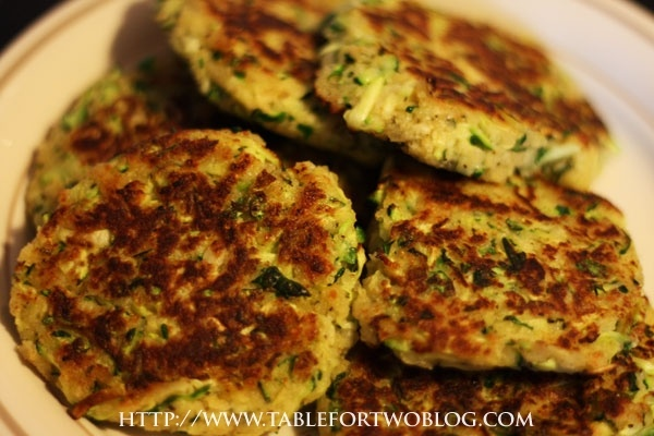Zucchini Cakes*•1 large zucchini •1/2 cup of parmesan cheese •1 ...