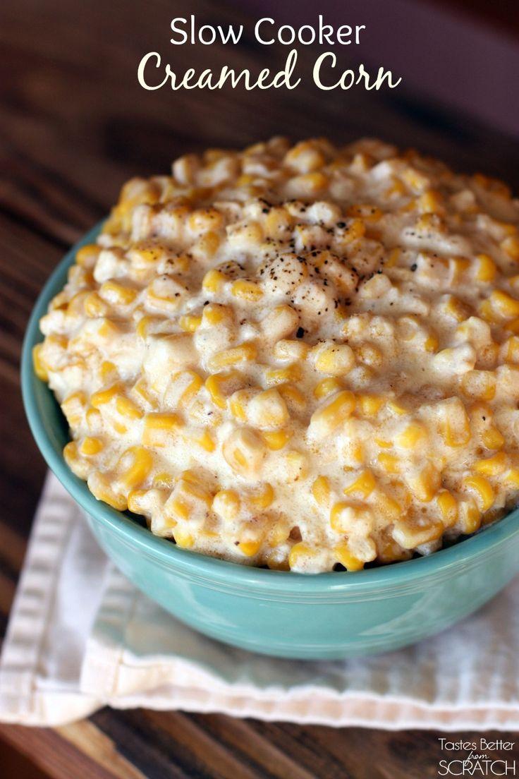 ... slow cooker creamed corn recipe yummly slow cooker creamed corn recipe