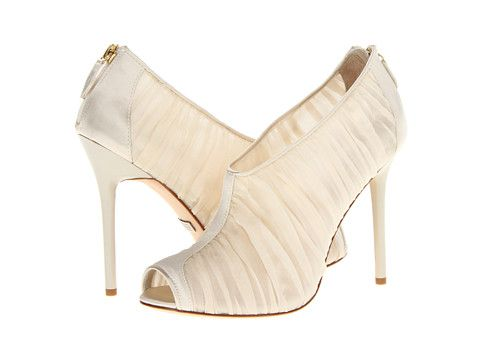 Badgley Mischka Dariene Ivory Chiffon/Satin - Zappos.com Free Shipping BOTH Ways