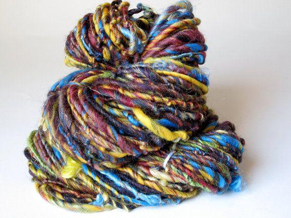 Buster  Handspun Bulky Art Yarn by NewTwist on Etsy, $18.00