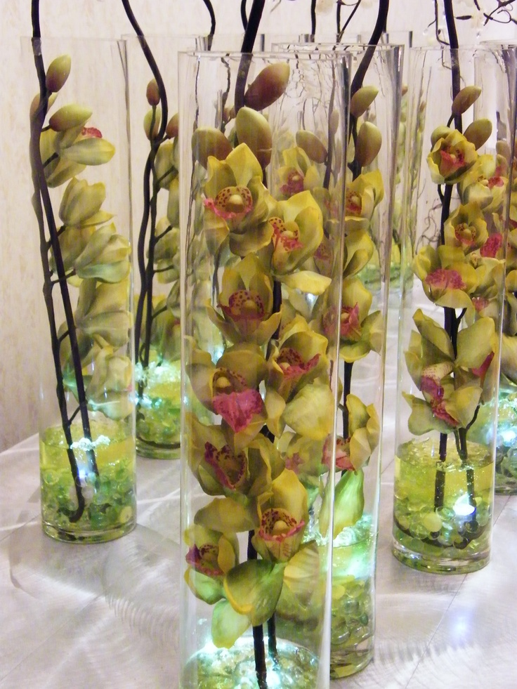 Cymbidium centerpieces 70th birthday party ideas