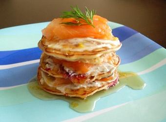 Smoked Salmon Galette with Blueberry Buckwheat Pancakes YMCA recipe ...