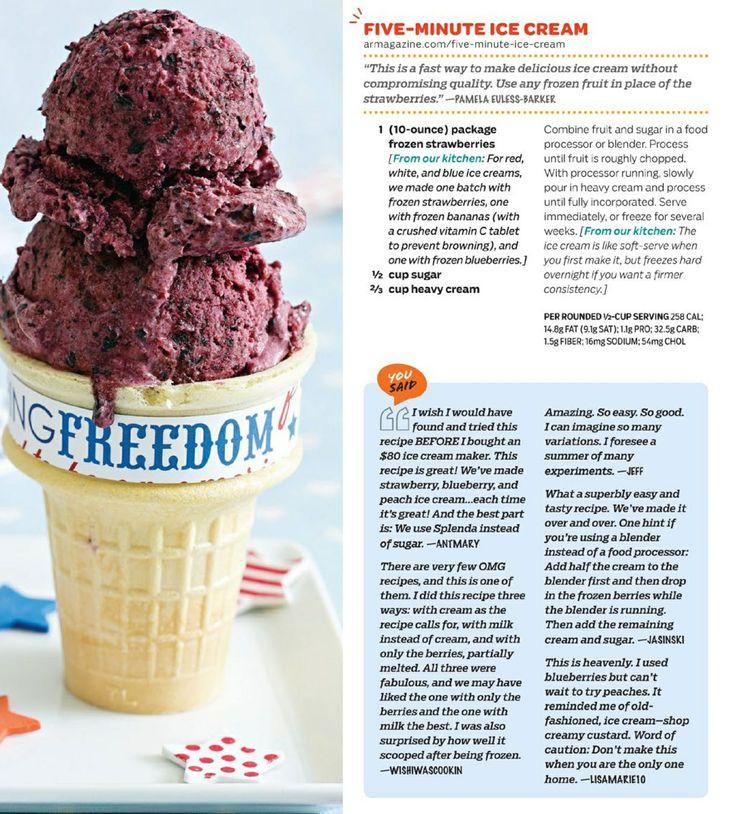 Five Minute Ice Cream | Desserts | Pinterest
