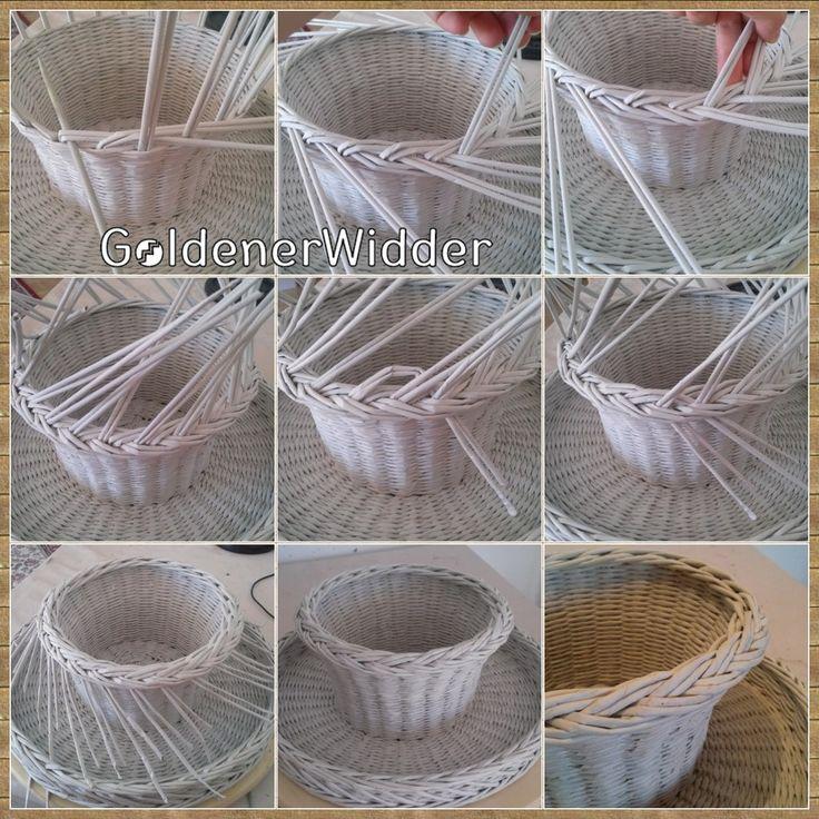 Плетение из газетных трубочек салфеток
