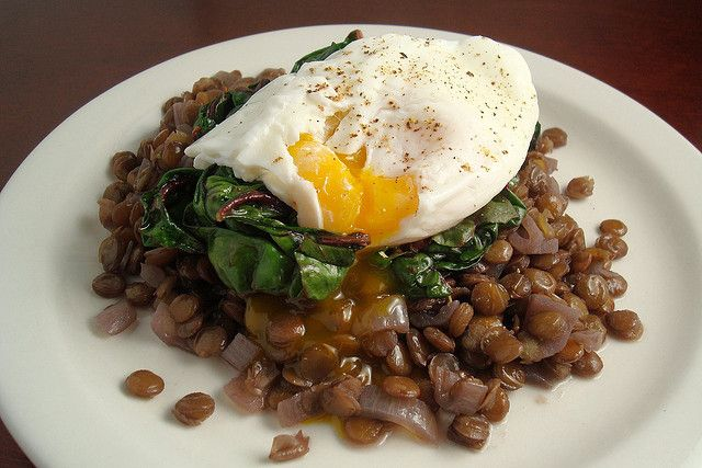 Braised Lentils with Swiss Chard and a Poached Egg by esimpraim, via ...