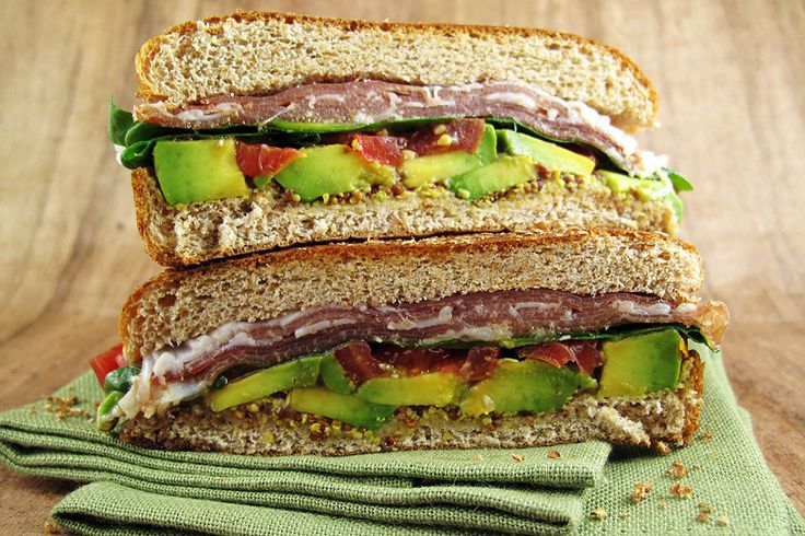 Prosciutto, Avocado, Arugula, and Tomato Sandwich | Recipe
