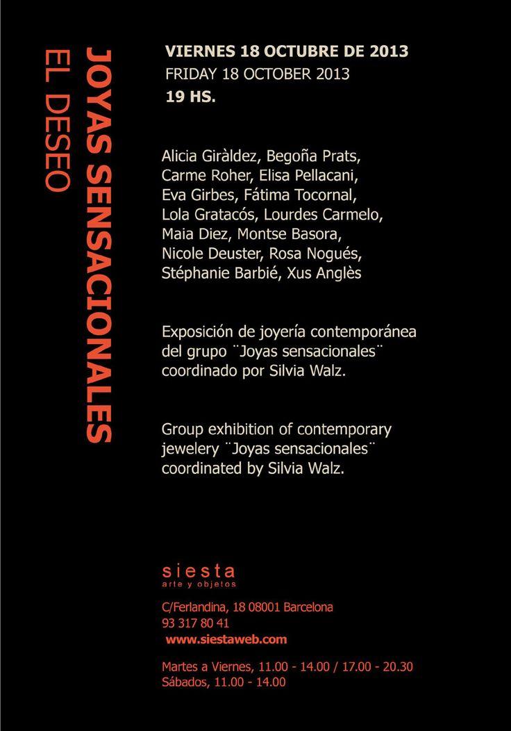 Joyas Sensacionales at Siesta gallery  18 octubre 2013