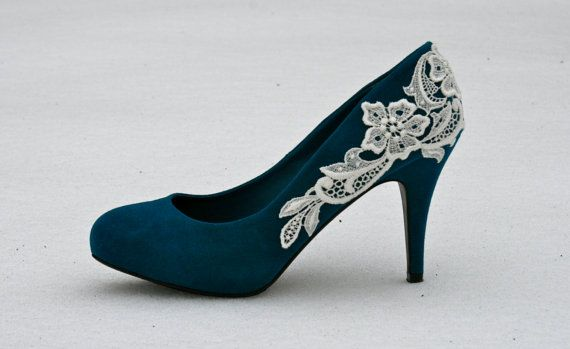 Blue lace shoes