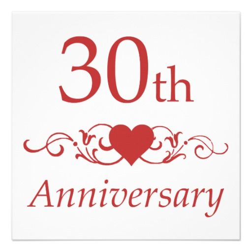 30th Wedding Anniversary: 30th Wedding Anniversary