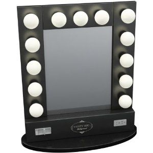 Table top lighted vanity mirror random stuff to for Where can i find mirrors