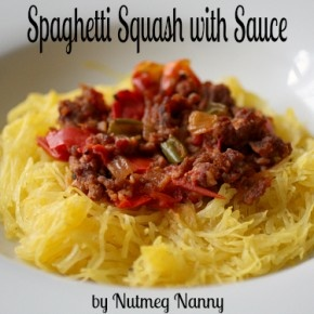 Spaghetti Squash with Sauce from Nutmeg Nanny