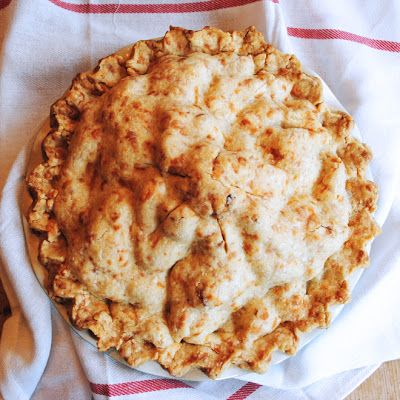 The Darling Apartment: Pie Sunday: Mile High Apple Cheddar Pie