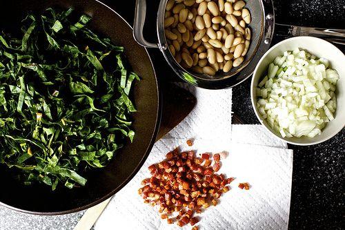 pancetta, white bean and swiss chard pot pies from smitten kitchen