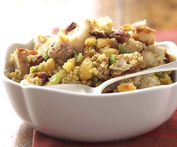 Sausage Stuffing For the corn bread needed in this stuffing, bake two ...