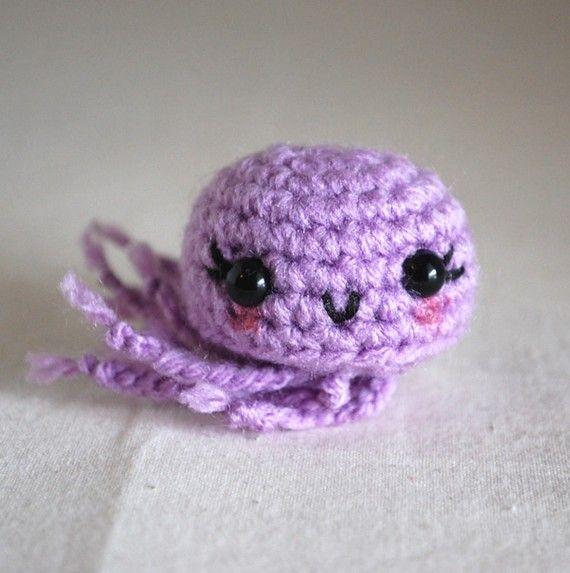 Amigurumi Jellyfish : Little Amigurumi Jellyfish - Purple