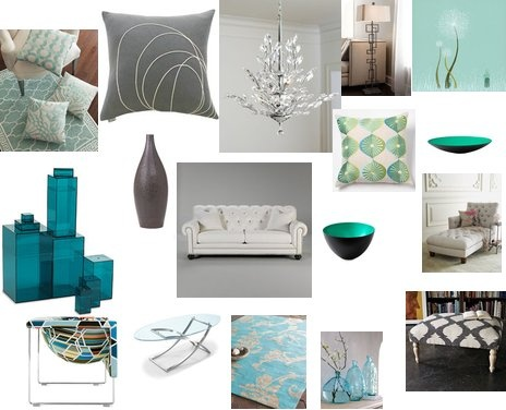 Pin by jessica b on decor pinterest for Teal and grey living room ideas