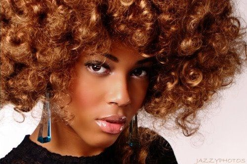 Kinky curly Afro hair...nice! Liking the texture, liking the colour?