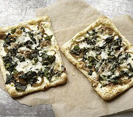 ... Recipe: A Puff Pastry Pizza with Broccoli Rabe and Caramelized Onions